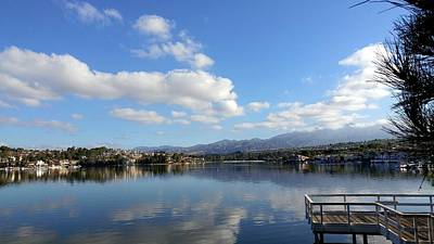 Photograph - Lake Mission Viejo Cloud Reflections by Richard Yates