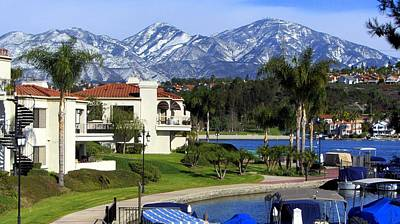 Photograph - Lake Mission Viejo Snow On Saddleback Mountain by Richard Yates