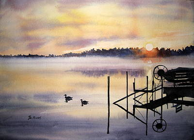 Lake Mist Art Print by Shirley Braithwaite Hunt