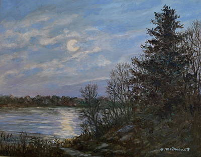 Painting - Lake Moonrise by Kathleen McDermott