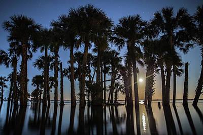 Photograph - Lake Moonrise by Stefan Mazzola