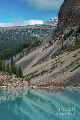 Photograph - Lake Moraine Angles by Mike Reid