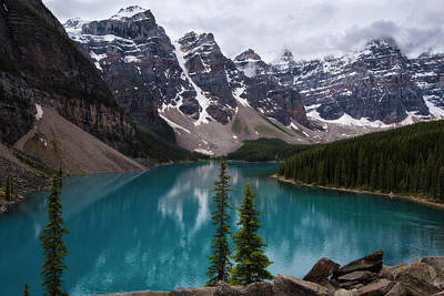 Photograph - Lake Moraine Canada by Dave Dilli