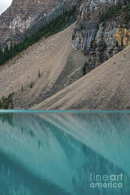 Photograph - Lake Moraine Geometry by Mike Reid