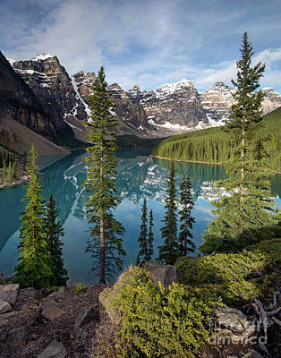 Photograph - Lake Moraine Portrait by Art Cole