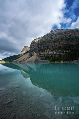 Photograph - Lake Moraine Waters To Sky by Mike Reid