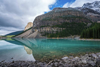 Photograph - Lake Moraine Wide Perspective by Mike Reid