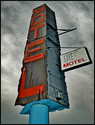 Lake Motel Art Print by Curtis Staiger