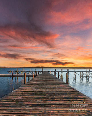 Photograph - Lake Murray Lodge At Sunrise by Tamyra Ayles