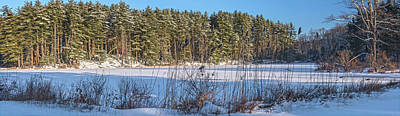 Photograph - Lake Nawahunta Winter Panorama by Angelo Marcialis