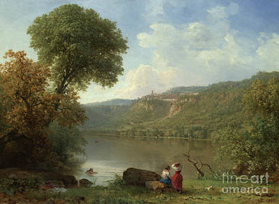 Painting - Lake Nemi, 1857 by George Inness