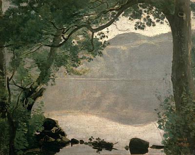 Lake Nemi Art Print by Jean Baptiste Camille Corot