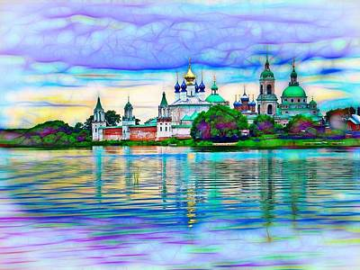Lake Nero Monastery - Russia Print by The  Candy Trail