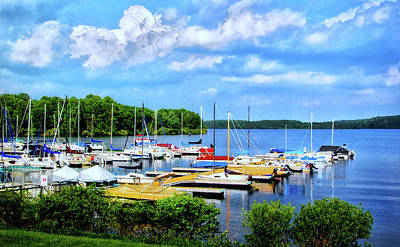 Photograph - Lake Nockamixon Marina by Carolyn Derstine