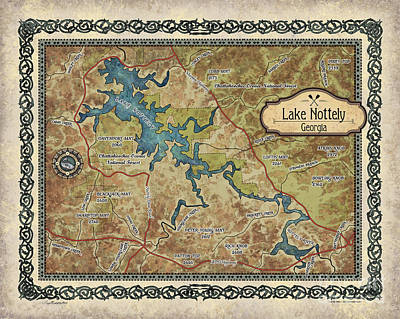 Painting - Lake Nottely by Lisa Middleton