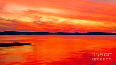 Clarks Hill Lake Photograph - Lake Of Fire by Steven Dillon