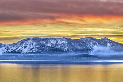 Digital Image Photograph - Lake Of Gold by Steve Baranek