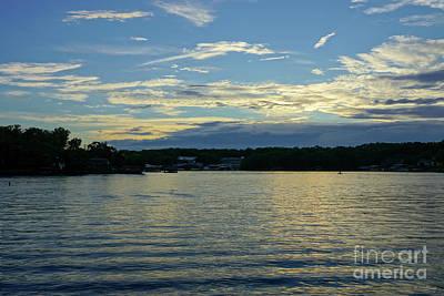 Photograph - Lake Of Ozarks Blue Sunset by Jennifer White