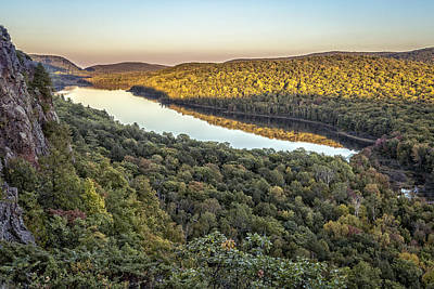 Photograph - Lake Of The Clouds Sunset by Jack R Perry