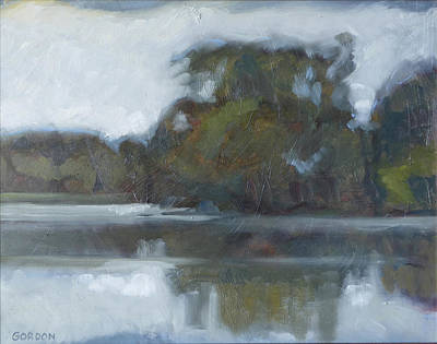 Evening Painting - Lake Of The Isles by Kim Gordon