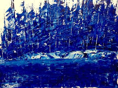 Painting - Lake Of The Woods Blues by Desmond Raymond