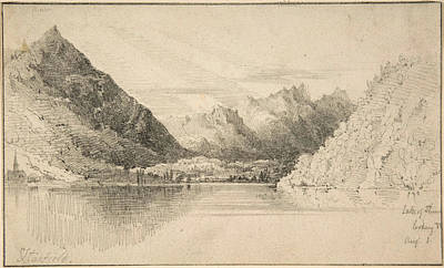 Drawing - Lake Of Thun Looking North by Clarkson Frederick Stanfield
