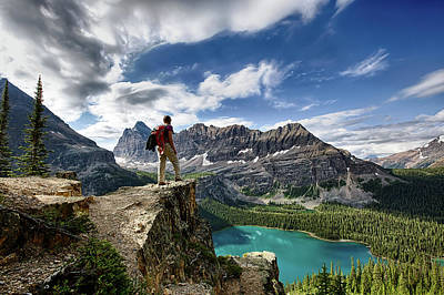Lake O'hara Adventure Art Print