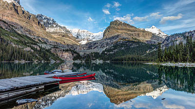 Photograph - Lake O'hara Canoes by Pierre Leclerc Photography