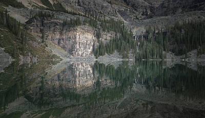 Photograph - Lake O'hara Mirror Reflection by Adam Gibbs