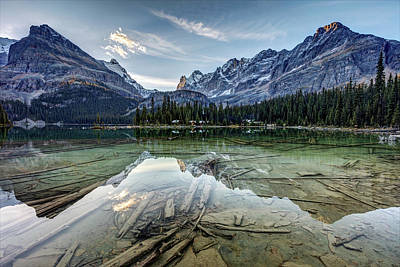 Photograph - Lake O'hara Reflection At Dawn by Pierre Leclerc Photography