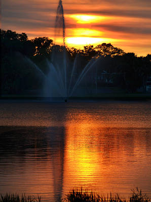 Photograph - Lake On Fire by rd Erickson