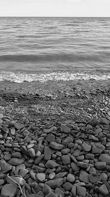 Photograph - Lake Ontario B W 1 by Rob Hans