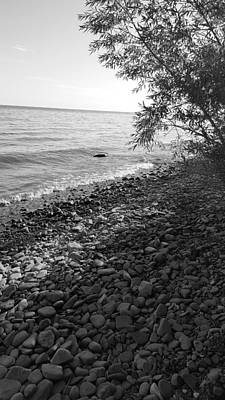 Photograph - Lake Ontario B W 2 by Rob Hans