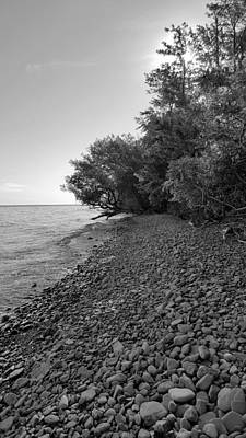 Photograph - Lake Ontario B W 3 by Rob Hans