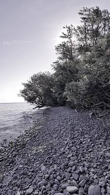 Photograph - Lake Ontario B W 4 by Rob Hans