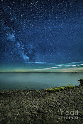 Photograph - Lake Ontario By Moonlight by Roger Monahan