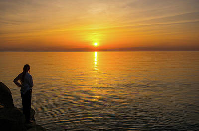 Photograph - Lake Ontario Sunset by John Black