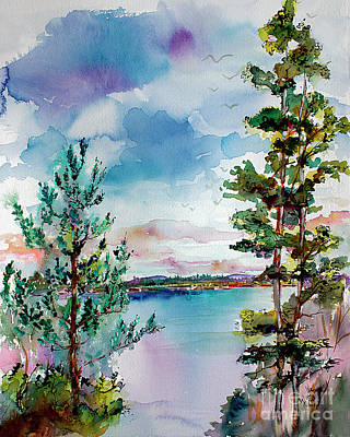 Painting - Lake Oswego Oregon by Ginette Callaway