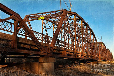 Lake Overholser Bridge Art Print by Lana Trussell