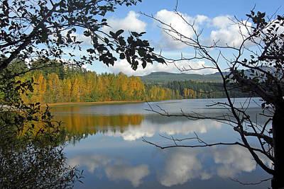 Lake Padden Fall Reflection Art Print by Matthew Adair
