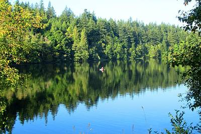 Photograph - Lake Padden September Reflection by Karen Molenaar Terrell