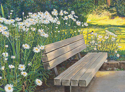 Painting - Lake Padden Series - Memorial Bench Of Judy Winter by Nick Payne