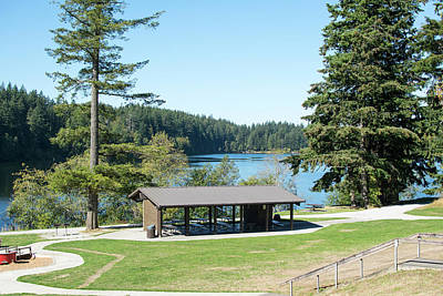 Photograph - Lake Padden Shelter by Tom Cochran