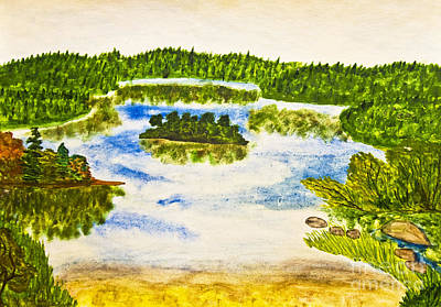 Painting - Lake, Painting by Irina Afonskaya