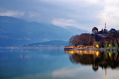 Photograph - Lake Pamvotida And The Fethiye Mosque by Fabrizio Troiani