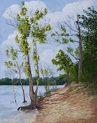 Painting - Lake Path by Kathleen Keller