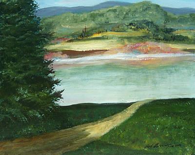 Lake Path Art Print