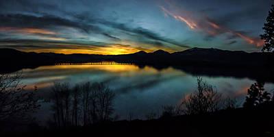 Photograph - Lake Pend Oreille Evening Sunset by Albert Seger