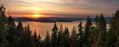 Photograph - Lake Pend Oreille Sunset View by Leland D Howard