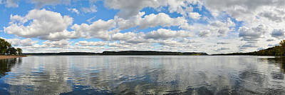 Photograph - Lake Pepin Mississippi River Panorama by Kyle Hanson
